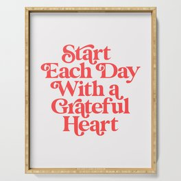 Start Each Day With a Grateful Heart Serving Tray