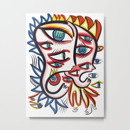 Eyes of the soul Street Art Tribal Graffiti Metal Print