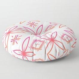 UrbanNesian Pink & Orange Siapo & Malu Design Floor Pillow