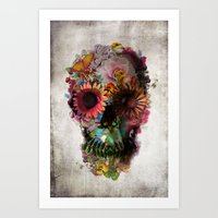 colour Art Prints featuring SKULL 2 by Ali GULEC