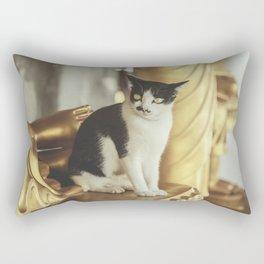 Golden Cat Rectangular Pillow
