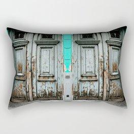 Turquoise Door Rectangular Pillow