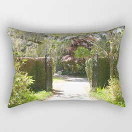 Southern Spring Garden Entry Rectangular Pillow