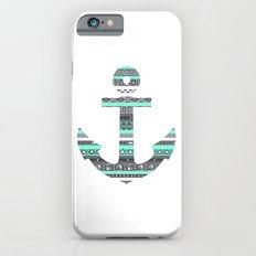 Tiffany Mint Aztec Pattern Anchor Slim Case iPhone 6s