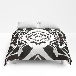 Black and White Ink Blot Comforters