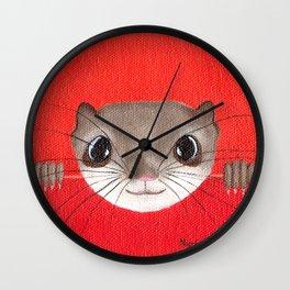 Cute baby Squirrel Bright Bold Colors Childrens decor Nursery Art Wall Clock