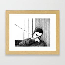Study of Ronan Lynch Framed Art Print