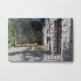 Tales from the Courtyard Metal Print