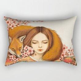 Red Fox - Totem Rectangular Pillow