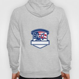 Excavation Services USA Flag Badge Hoody