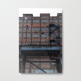 Steel Yard Train Track Bridge Metal Print