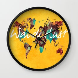 world map 123 wanderlust #wanderlust #map Wall Clock