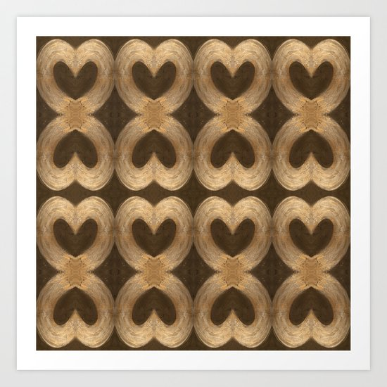 Burleniya hearts (alternative version) Art Print
