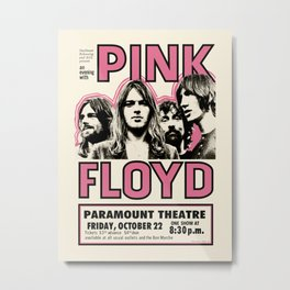 PinkFloyd Meddle Concert Tour 1971 (digitalized) Metal Print