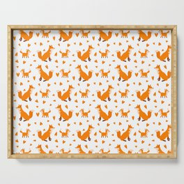Cute Baby Fox Happy Mothers Day Wild Animal Lover  Serving Tray