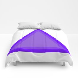 Triangles: Purple on Purple Comforters