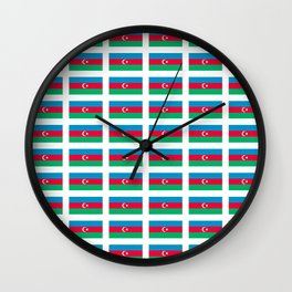 flag of azerbaijan -Азербайджан,Azərbaycan,Azerbaijani,baku,caspian. Wall Clock