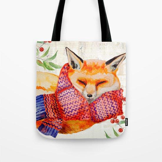 Winter animal #3 Tote Bag