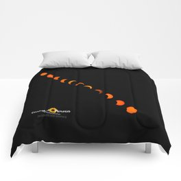 Solar Eclipse 2017 Comforters