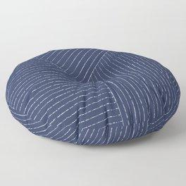 Lines (Navy) Floor Pillow