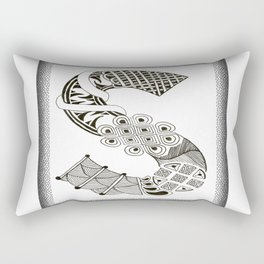 Zentangle S Monogram Alphabet Initials Rectangular Pillow