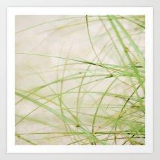 Green Wisps Art Print