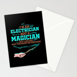 Electrician Funny Electrical Magician Electricity Stationery Cards