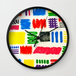 Dribble Scribble Wall Clock