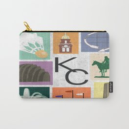 Kansas City Landmark Print Carry-All Pouch