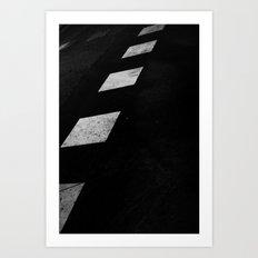 Binary Road Art Print