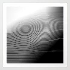 Metal. Wave. Art Print