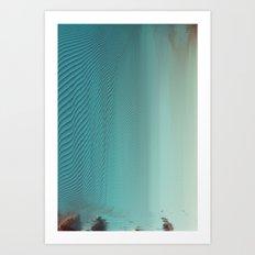 Under glitch sea  Art Print