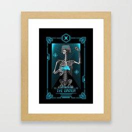The Gamer X Tarot Card Framed Art Print