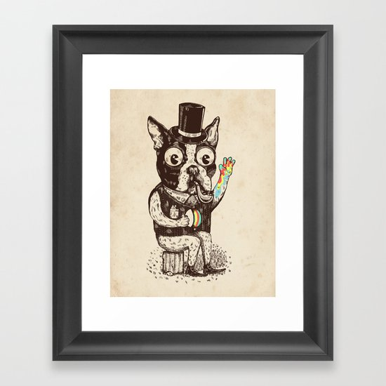 Strange Dog Framed Art Print