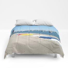 Chicago, Chicago shoreline, Skyline, Lake Michigan Comforters