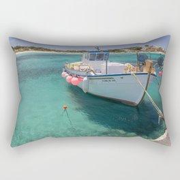 Tropical Fishing Boat Rectangular Pillow