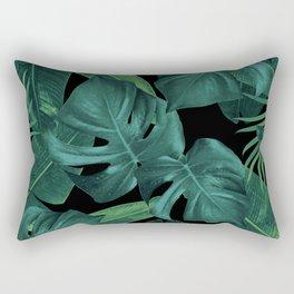 Tropical Summer Night Jungle Leaves Dream #1 #tropical #decor #art #society6 Rectangular Pillow