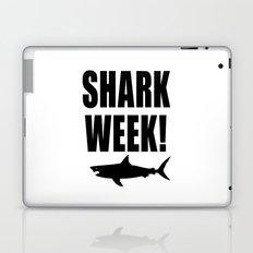 Shark week (on white) Laptop & iPad Skin