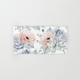 Pretty Succulents by Nature Magick Hand & Bath Towel