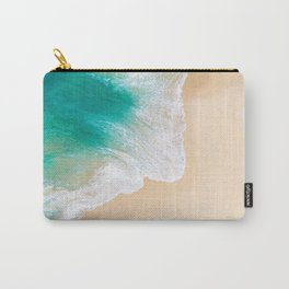 Sand Beach - Waves - Drone View Photography Carry-All Pouch