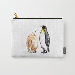 King Penguin and Chick Carry-All Pouch
