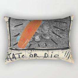 Skate or Die Street Art Collage Rectangular Pillow