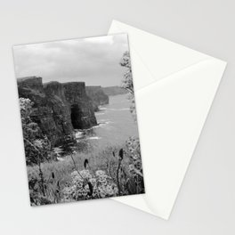 Black and White, Cliffs of Moher, Ireland (Landscape) Stationery Cards