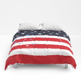 Patriotic Grunge Stars and Stripes Comforters