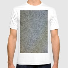 Sea of Lines MEDIUM Mens Fitted Tee White