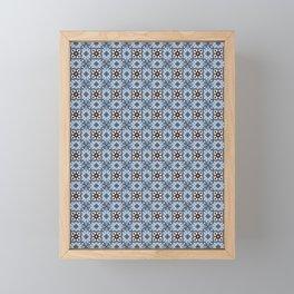 Blue Tiles Framed Mini Art Print