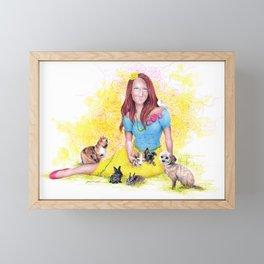Snow White I   Endometriosis awareness Framed Mini Art Print
