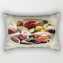 Thanksgiving Dinner and Autumn Decoration. Rectangular Pillow