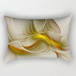 Abstract With Colors Of Precious Metals, Fractal Art Rectangular Pillow