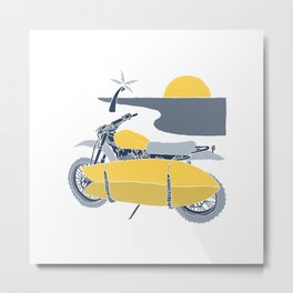 Surf Tracker Metal Print